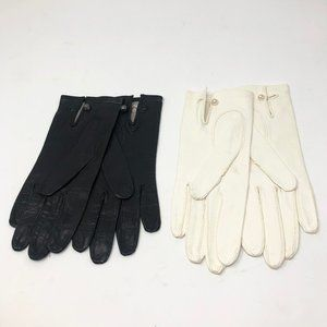 2 Pairs Vintage Hudson Bay Company Leather Gloves
